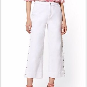 High-Waisted Wide Leg Cropped Jeans